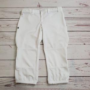 White Under Armour Softball Pants Size LG